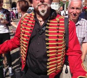 customer in victorian shirt